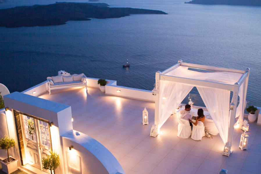Proposal in Santorini - Private dinner in Santorini for couples